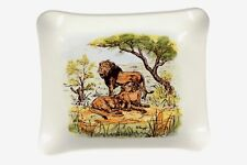 A Kruger Park lion dish Brostdy Ware pottery South African