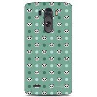 For LG G3 (2014) Case Panda Teal Polka Dots Hard Slim Phone Cover Accessory