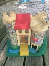 Vintage Fisher Price Little People Play Family Castle with Pink Dragon #993