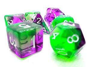 RPG Würfel Set 7 teilig Poly DND Rollenspiel dice4friends tabletop w4-w20 TOP