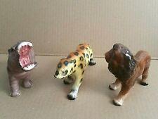 Vintage Hippopotamus Lion Leopard Porcelain Figurines Japan