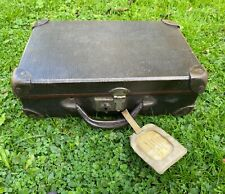 More details for ww2 wartime childs evacuee case + name tag & photo devon 1942 nice
