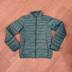 Columbia women's packable puffer jacket teal Size XS