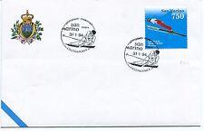 1994-01-31 San Marino Olimpiadi invernali Lillehammer ANNULLO SPECIALE Cover