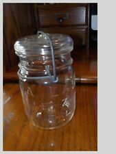 1 Pint Clear Atlas E-Z Seal Glass Lid ~ Nice Wire Closure