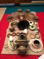 Art Deco Brass Light Fixtures And Hardware Lot
