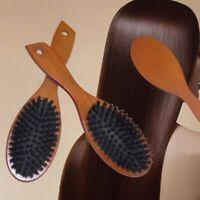 Natürliche Wildschweinborsten Antistatische Haarbürste Kamm Kopfhaut ape