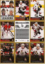 2013-14 Panini Score Gold Ottawa Senators Complete Team Set (23)