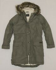 Abercrombie Women Military Sherpa lined Parka jacket size S , XL new with tag