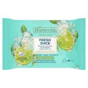 Bielenda FRESH JUICE Make-up Removing Micellar Wipes Lime 20 pcs
