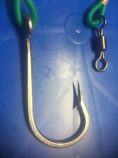 ONE TROLLING RIGS 8/0 STRAIGHT STAINLESS GAME HOOK ON 250LB MONO 1.5 METERS LONG