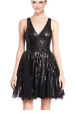 NWT Parker Black Sleeveless Embellished Fit-and-Flare Dress 2 Retail $495.00