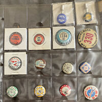 Small collection of Labor Union pins AFL CIO UAW. Riverside, Long Beach etc.