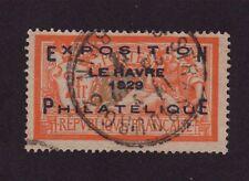 N°257A EXPOSITION DU HAVRE 1929 SURCHARGER 2 F MERSON OBLITÉRÉ