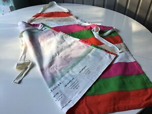 NEW no Tags KATE SPADE colourful Apron With Cooks Measurements