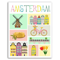 2 x 10cm Amsterdam Netherlands Vinyl Stickers - Sticker Luggage Travel #19274