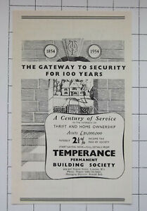 TEMPERANCE PERMANENT BUILDING SOCIETY MD Ronald Bell ~ 1954 Advert