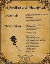 "Framed Print - Wiccan Spell ""End Heartbreak"" (Picture Poster Art Ritual Magic)"