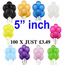 """Quality Standard 5"""" inch Small Round Latex Balloons Choose 9 Colour baloons"""
