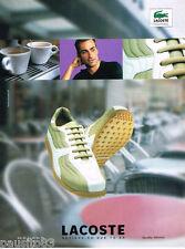 PUBLICITE ADVERTISING 075  2001  LACOSTE   chaussures modèle MISSION