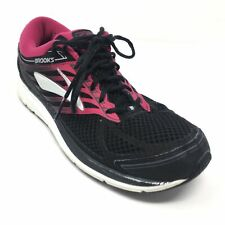 Women's Brooks Addiction 13 Walking Shoes Sneakers Size 12 AA Black Pink M5