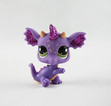 Littlest Pet Shop  Lps628 Toy Purple Glitter Dragon Green Eyes