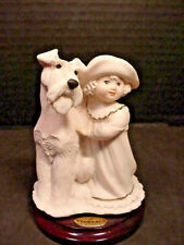 "Giuseppe Armani "" Perfect Match"" Little Girl with Dog Figurine Statue Sculpture"