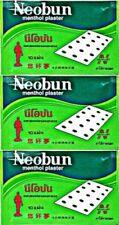 3-PACKS-NEOBUN-MENTHOL-PLASTER-PAIN-RELIEF-MUSCLE-ACHE-FREE-SHIPPING  3-PACKS-NE