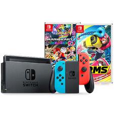 Nintendo Switch with Neon Joy-Con Bundle (Includes Mario Kart 8 Deluxe & ARMS)