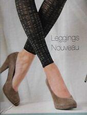 Blickdichte Leggings 80den,dreidimensionale Masche,Farbe, dunkel Brau, Gr.36-38