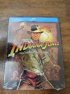 Indiana Jones: The Complete Adventures (Blu-ray, 2019; 4-Disc Steelbook) NEW