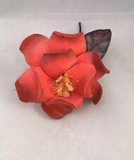 Coral Orange Red Artificial Foam Flower Stem Wedding Bride Bouquet Hair Decor.