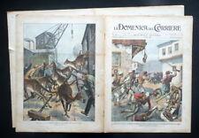 Rivolta in Macedonia Soldati Turchi Kossovo Domenica del Corriere N.12 22/3/1903