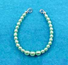 Barbie Dreamz Light Green Graduated Pearl Necklace Only Doll Jewelry