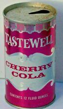 Tastewell Cherry Cola; Western Family Foods; San Francisco; steel soda pop can