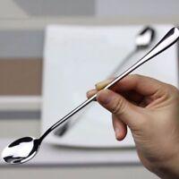 Accessories Dinner Long Steel Coffee Spoon Handled Soup  Teaspoon Spoons Tea