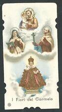 Estampa antigua Flor del Carmelo andachtsbild santino holy card santini