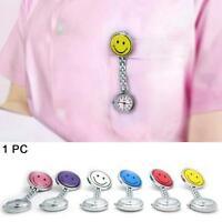Nurse Smiley Face Alloy Clip-on Fob Tunic Brooch Pendant Pocket Quartz Watch #6