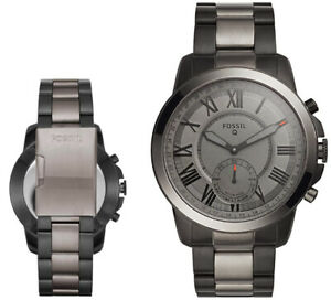 FOSSIL Grant Hybrid Smartwatch Herren Uhr Edelstahlarmband Analog IOS Bluetooth