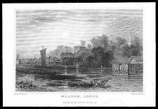 1835 ESSEX - Original Antique engraving View of MALDON (82)