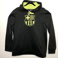 FC Barcelona Futbol Soccer Black Hooded Sweatshirt Adult Medium  2067