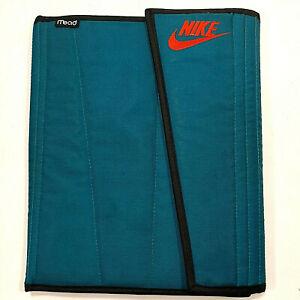 VINTAGE Nike & Swoosh Mead Teal/Orange Embroidered School Pocket Folder 1994 90s