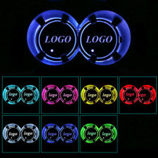 2x LED Car Cup Holder Pad Mat for Hyundai Auto Coasters Atmosphere Lights Colors