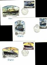 Russia 1978 Set of 6 FDC - POLAR TRANSPORT 1978 ICE BREAKER SHIPS