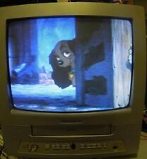 "Magnavox TV VCR Combo Color 13"" Model MC13D1MG01 CRT  Retro Gaming Television"