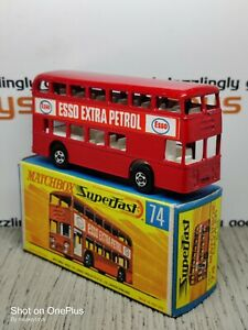 MATCHBOX Superfast No.74b Daimler Bus ESSO MIB. Original vintage diecast