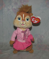 """Ty Beanie Plush Alvin Chipmunks Brittany - Squeakquel - Paper Hang Tag - 6"""""""