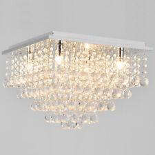 [lux.pro] Kristall Deckenleuchte [38x38cm] Deckenlampe Lüster Zimmerlampe Chrom