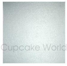 """Square Silver Masonite Cake Board 12"""" X 5mm"""