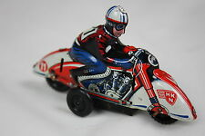HUKI TIN TOY MOTORCYCLE 1940s made in U.S. - ZONE GERMANY * best condition!